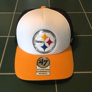 NWT Woman's Steelers Strapback Hat